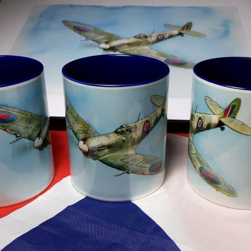 Out of the Blue - Spitfire MkV AR501 - Stoneware Mug