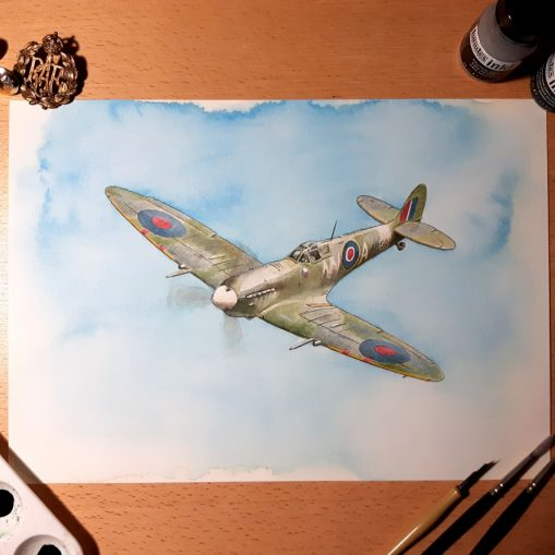 Out of the Blue - Spitfire AR501 Limited Edition Giclee Print