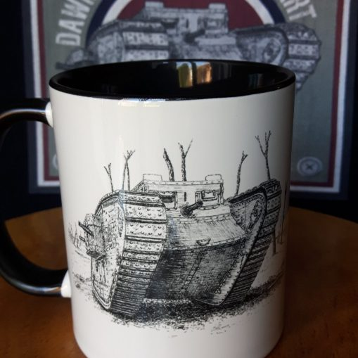 British First World War Tanks - Stoneware Mug - MkIV