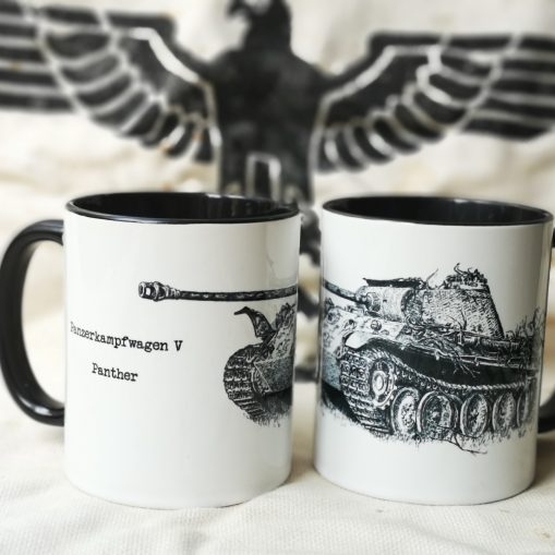 """The End"" Panzer V Panther - Pen & Ink Illustration - Stoneware Mug"