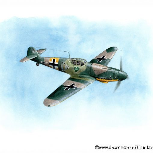 """Lonely Heart"" Bf109G2 Limited Edition Print Before Signature"