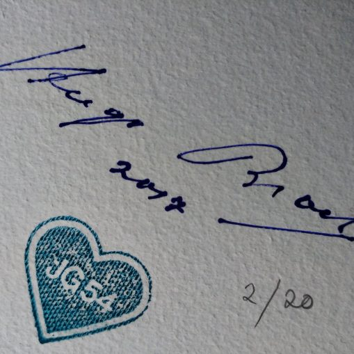 Hugo Broch's Signature and JG54 Grunhertz Stamp