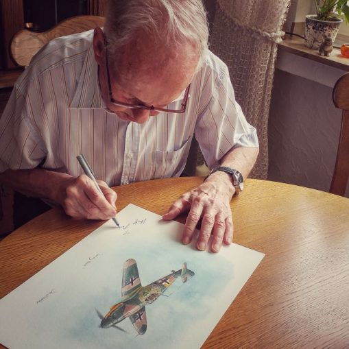 Hugo Broch Signing Bf 109G-2 Print
