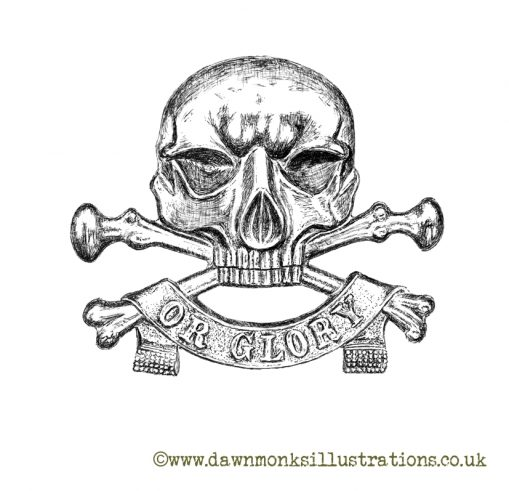 """17th/21st Lancers """"Death or Glory"""" Motto - Limited Edition Print"""