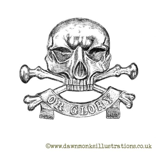 "17th/21st Lancers ""Death or Glory"" Motto - Limited Edition Print"