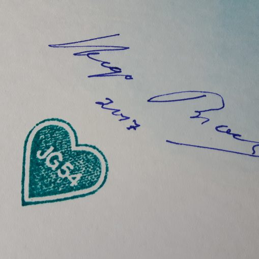Hugo Broch's Signature and JG54 Grunhertz Stamp