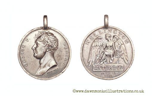 British Waterloo Medal - Limited Edition Print