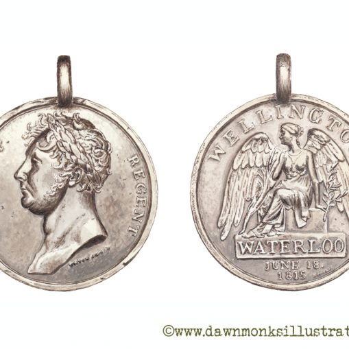 British Waterloo Medal - Limited Edition Print