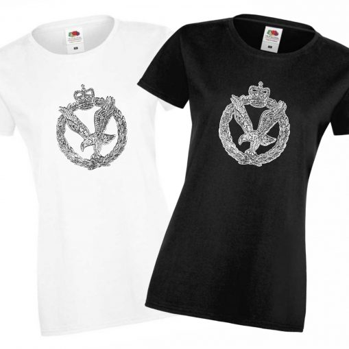 Ladies' T-shirts Black & White - Army Air Corps