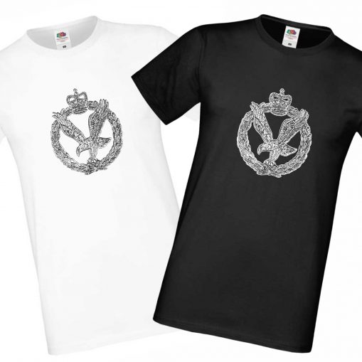 Mens' T-shirts Black & White - Army Air Corps