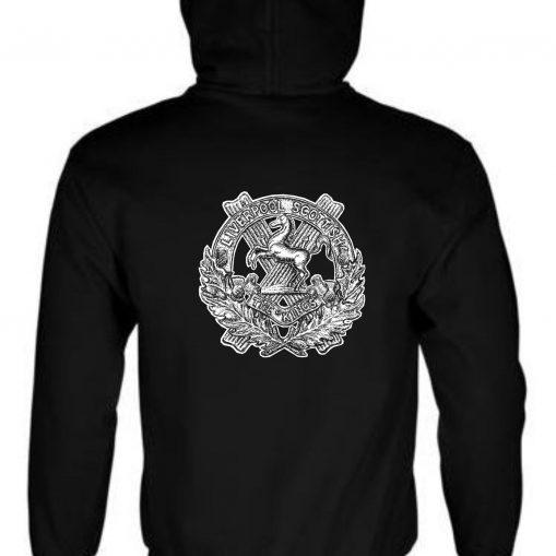 Unisex Black Hoodie (Back Printed) - 10th King's