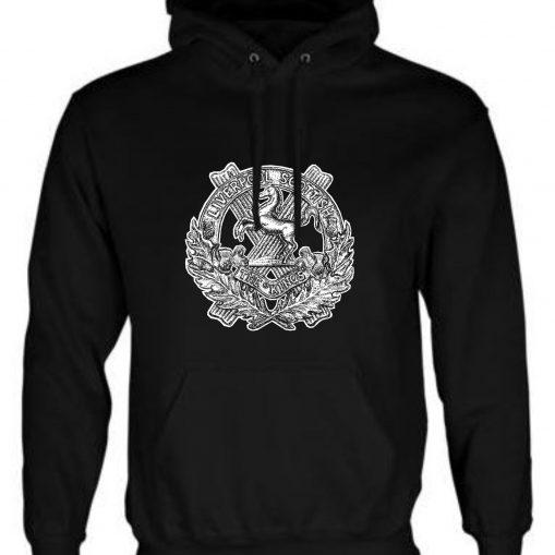 Unisex Black Hoodie (Front Printed) - 10th King's