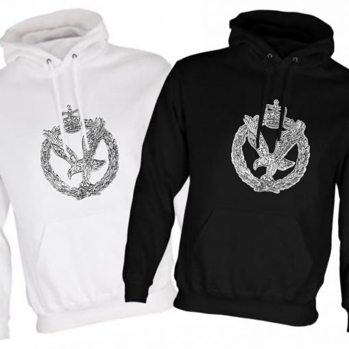 Unisex Hoodie Black & White - Army Air Corps