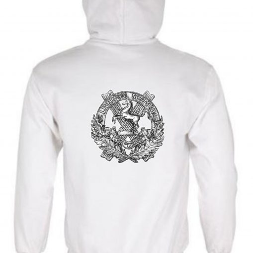 Unisex White Hoodie (Back Printed) - 10th King's
