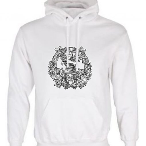 Unisex White Hoodie (Front Printed) - 10th King's