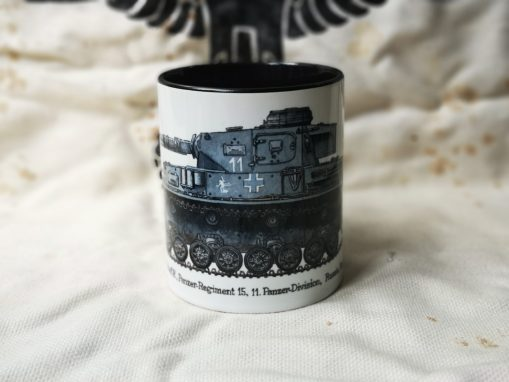 Panzer IV - Iron Cross Issue 2 Illustration - Stoneware Mug
