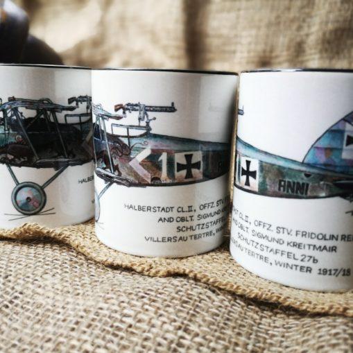 Halberstadt CL-II (Anni) WW1 Bi-Plane Stoneware Mugs - Iron Cross Magazine
