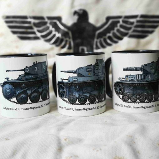 Iron Cross Magazine Panzer Mugs