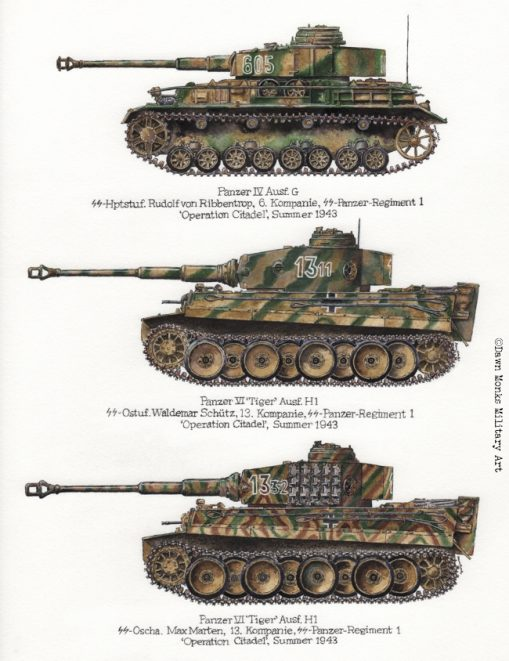 Kursk - Panzer IV & Tigers - Iron Cross Magazine Issue 4 - Artwork