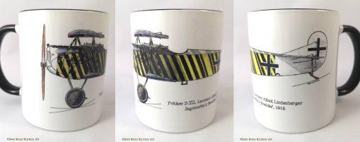 Lindenberger Fokker D.VII mug - In Different Skies - Issue 5 - Iron Cross Magazine