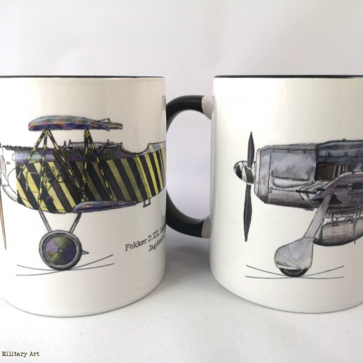 Lindenberger Fokker D.VII and Focke Wulf 190 mug pair - In Different Skies - Issue 5 - Iron Cross Magazine