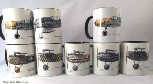 Full range of 8 Different Skies mugs - Issue 5 - Iron Cross Magazine