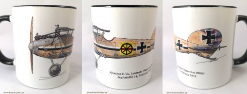 von Wedel Albatros D.Va (woodgrain) mug - In Different Skies - Issue 5 - Iron Cross Magazine