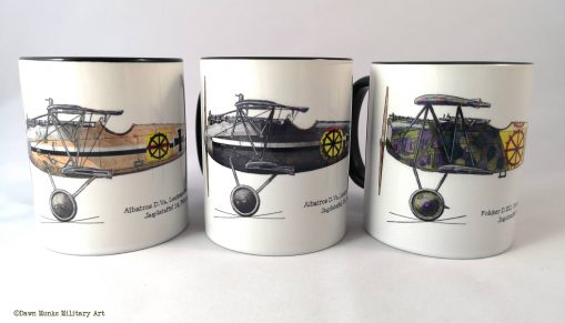 von Wedel set of 3 WWI aircraft mugs - In Different Skies - Issue 5 - Iron Cross Magazine