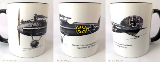 von Wedel Albatros D.Va (grey) mug - In Different Skies - Issue 5 - Iron Cross Magazine