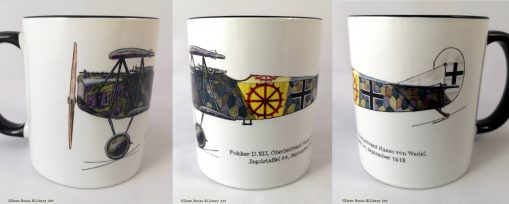 von Wedel Fokker D.VII mug - In Different Skies - Issue 5 - Iron Cross Magazine