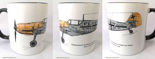 von Wedel Bf-109 E4 mug - In Different Skies - Issue 5 - Iron Cross Magazine