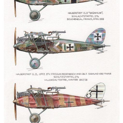 The Slaughter Birds - Halberstadt CL.II Limited Edition Prints